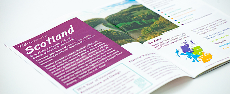 Welcome to Scotland Guide inside spread