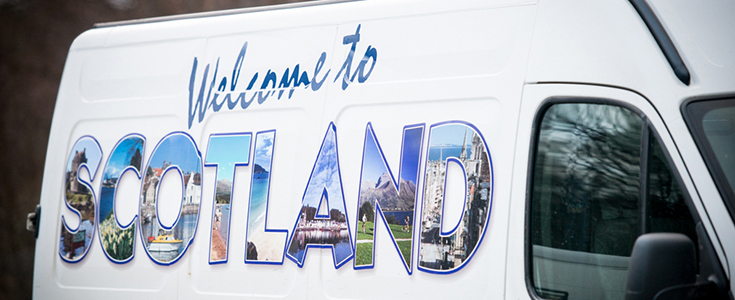 Welcome To Scotland Van