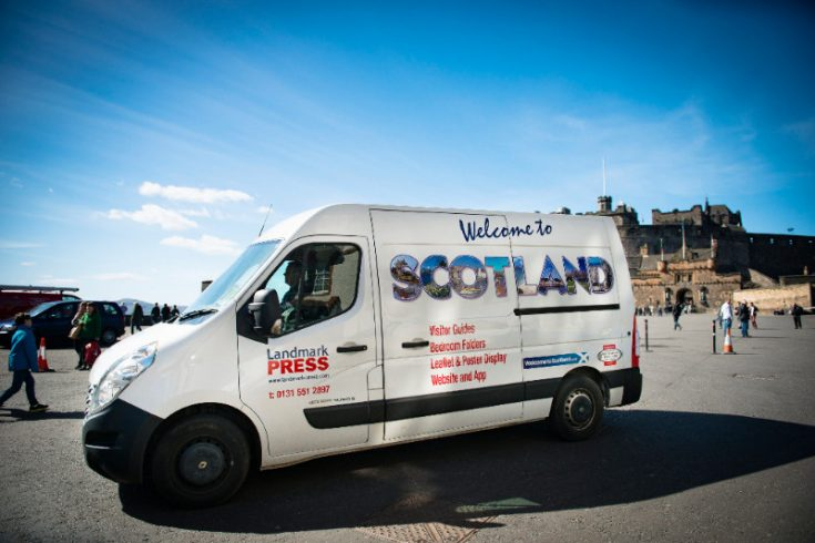 Landmark Press delivering to Edinburgh Castle