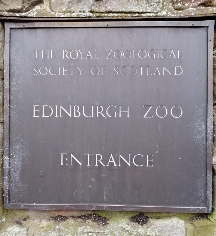 Plaque at Entrance of Edinburgh Zoo